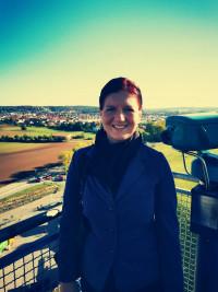 Stellvertretende SPD-Ortsvorsitzende Xenia Wilk beim Tag der offenen Tür im Müllkraftwerk Schwandorf