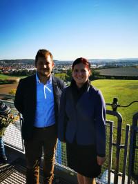 Stadtrat Matthias Kuhn und die Stellvertretende SPD-Ortsvorsitzende Xenia Wilk beim Tag der offenen Tür im Müllkraftwerk Schwandorf