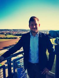 Stadtrat Matthias Kuhn beim Tag der offenen Tür im Müllkraftwerk Schwandorf