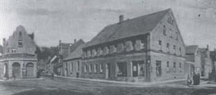 Der heutige Schlesierplatz mit dem Pfälzerhof